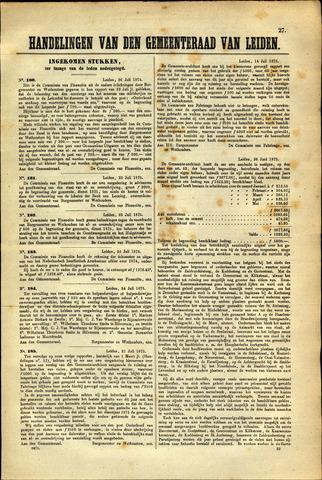 Handelingen van de Raad 1875-07-26
