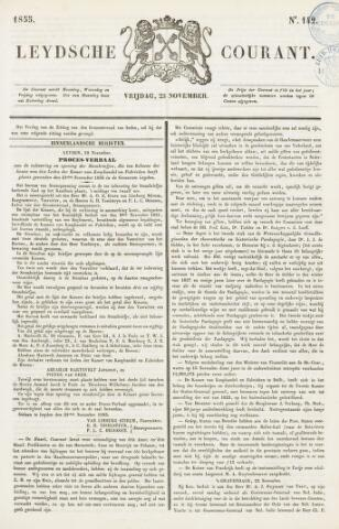 Leydse Courant 1855-11-23
