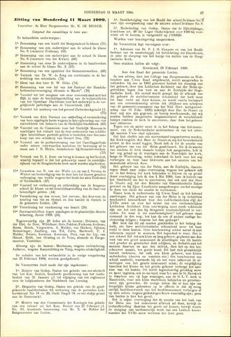Handelingen van de Raad 1909-03-11
