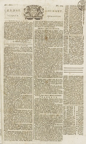 Leydse Courant 1817-08-29