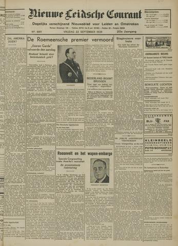 Nieuwe Leidsche Courant 1939-09-22