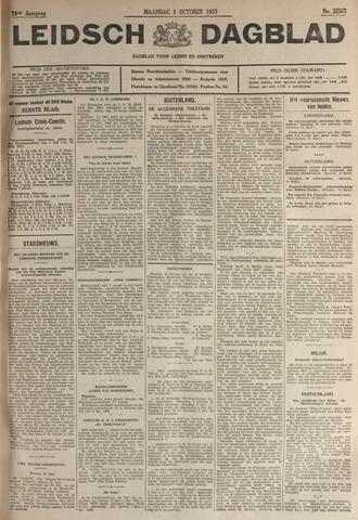 Leidsch Dagblad 1933-10-09