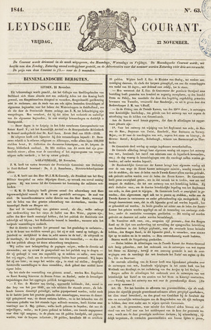 Leydse Courant 1844-11-22