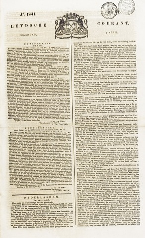 Leydse Courant 1841-04-05