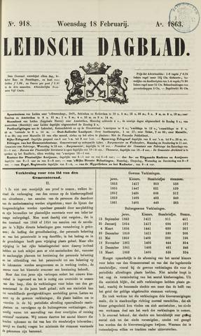 Leidsch Dagblad 1863-02-18