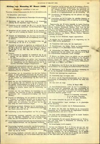 Handelingen van de Raad 1922-03-27