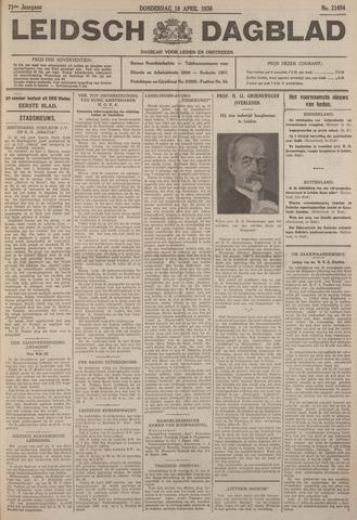 Leidsch Dagblad 1930-04-10