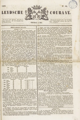Leydse Courant 1862-05-09