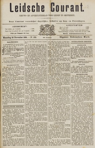 Leydse Courant 1885-11-23