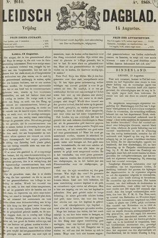 Leidsch Dagblad 1868-08-14