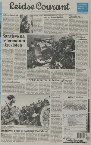 Leidse Courant 1992-03-02