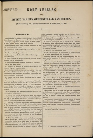 Handelingen van de Raad 1855-05-31