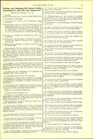 Handelingen van de Raad 1930-01-20
