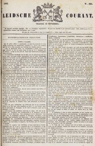 Leydse Courant 1882-11-10