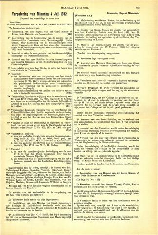Handelingen van de Raad 1932-07-04