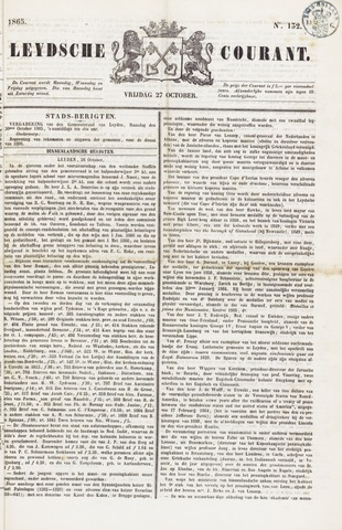 Leydse Courant 1865-10-27