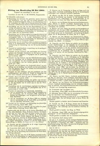 Handelingen van de Raad 1904-05-26