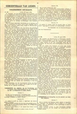 Handelingen van de Raad 1916-04-25