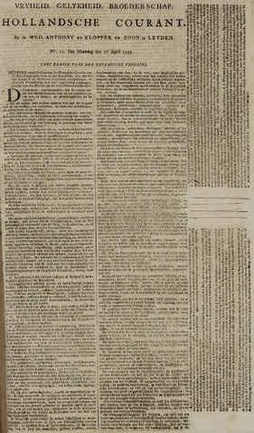 Leydse Courant 1795-04-27