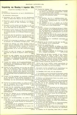 Handelingen van de Raad 1934-08-06
