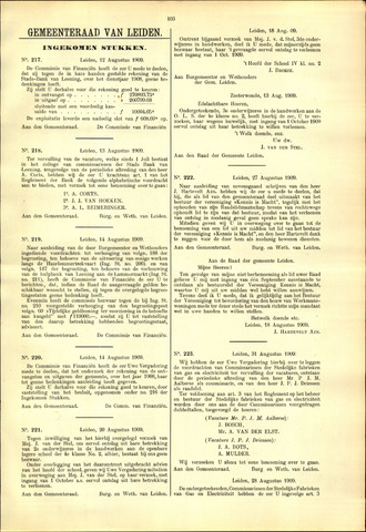 Handelingen van de Raad 1909-08-12