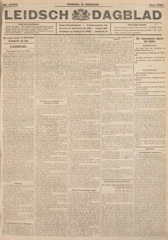 Leidsch Dagblad 1926-02-16