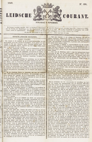 Leydse Courant 1869-11-09