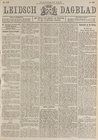 Leidsch Dagblad 1916-04-13