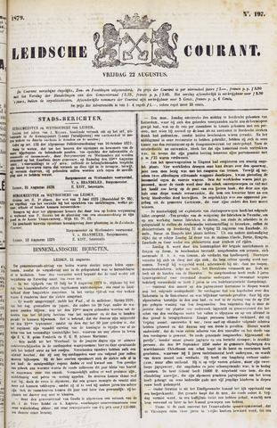 Leydse Courant 1879-08-22