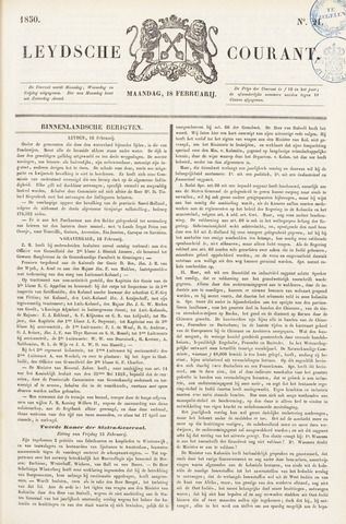Leydse Courant 1850-02-18