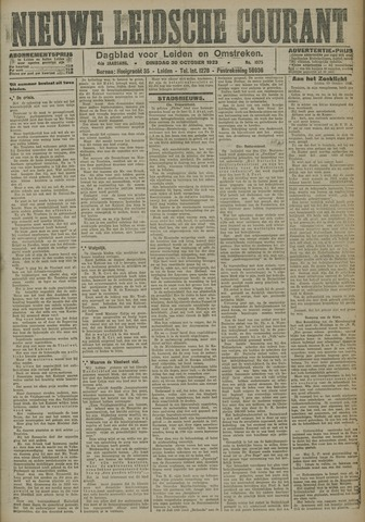 Nieuwe Leidsche Courant 1923-10-30