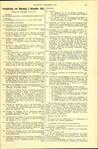 Handelingen van de Raad 1935-12-02