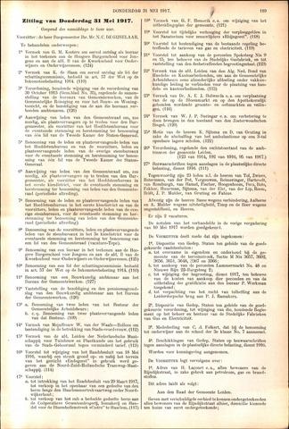Handelingen van de Raad 1917-05-31