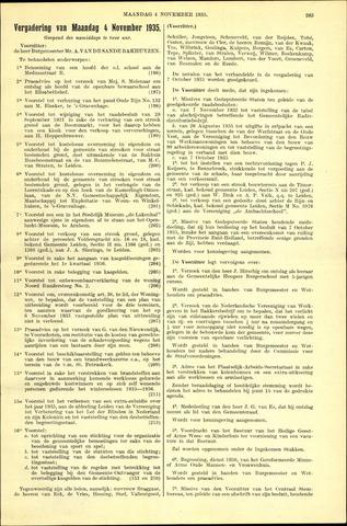 Handelingen van de Raad 1935-11-04