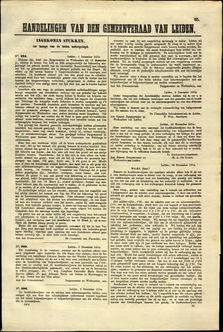 Handelingen van de Raad 1874-12-01