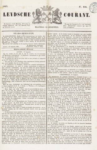 Leydse Courant 1865-08-14