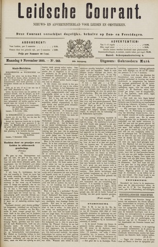 Leydse Courant 1885-11-09
