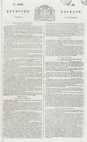 Leydse Courant 1838-02-09