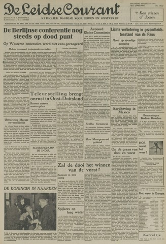 Leidse Courant 1954-02-08