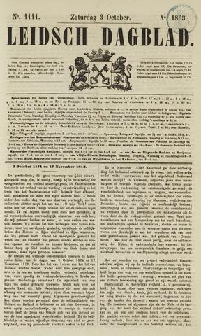 Leidsch Dagblad 1863-10-03