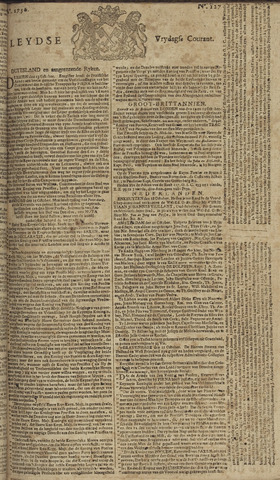 Leydse Courant 1756-10-22