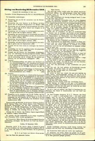 Handelingen van de Raad 1910-12-22