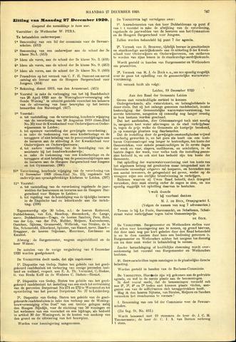 Handelingen van de Raad 1920-12-27