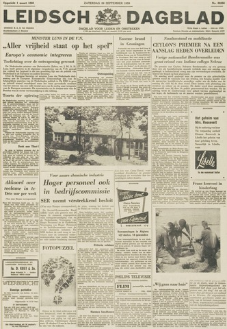 Leidsch Dagblad 1959-09-26