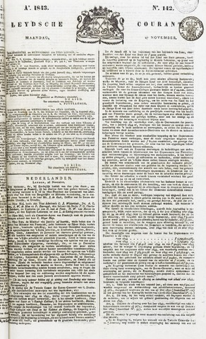Leydse Courant 1843-11-27