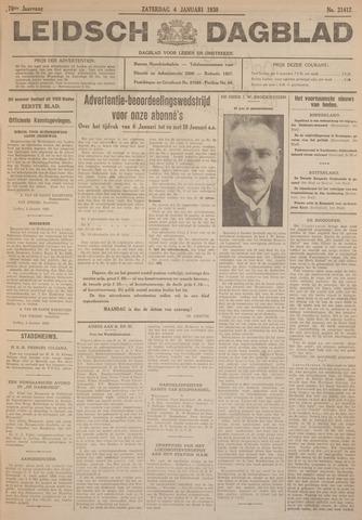 Leidsch Dagblad 1930-01-04
