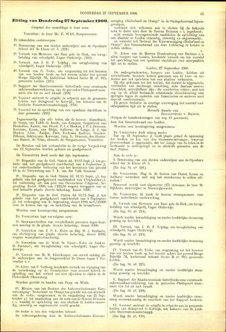Handelingen van de Raad 1900-09-27
