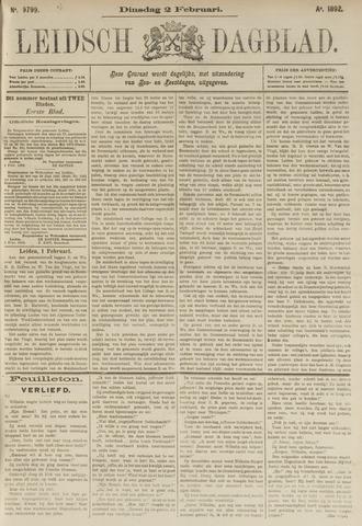 Leidsch Dagblad 1892-02-02