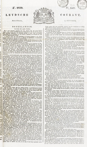 Leydse Courant 1839-10-14