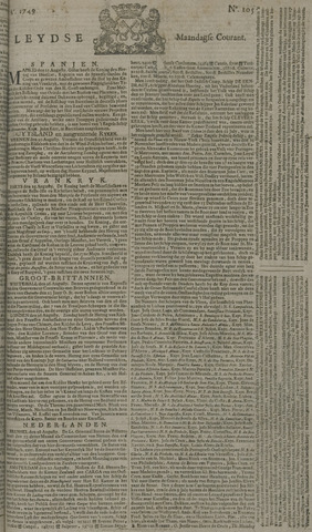 Leydse Courant 1749-09-01